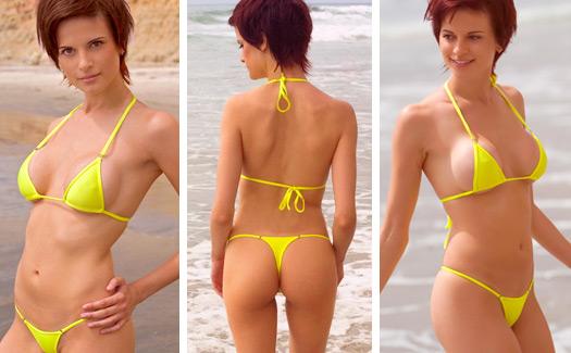 Soshanna wearing our Mini Micro Bikini with Minimal Coverage Top ...